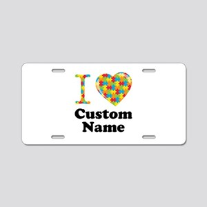 Autism Heart Aluminum License Plate