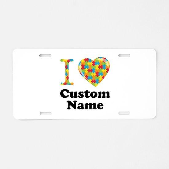 Autism Heart Aluminum License Plate