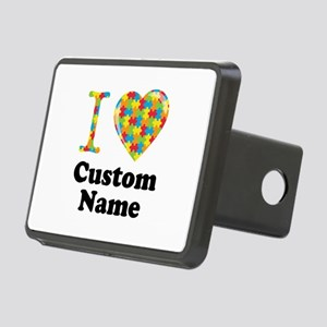 Autism Heart Rectangular Hitch Cover