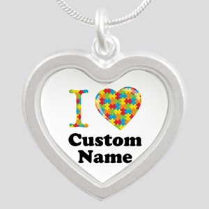 Autism Heart Silver Heart Necklace