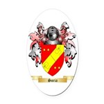 Soria Oval Car Magnet
