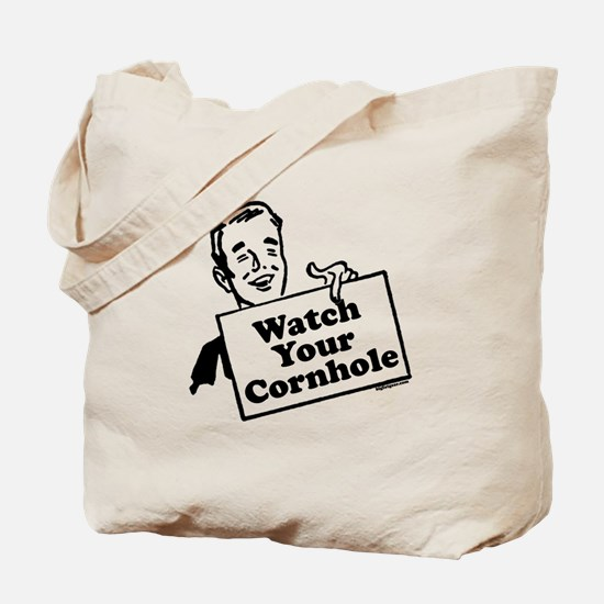 Watch Your Cornhole Tote Bag