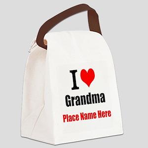 I Love Grandma Canvas Lunch Bag