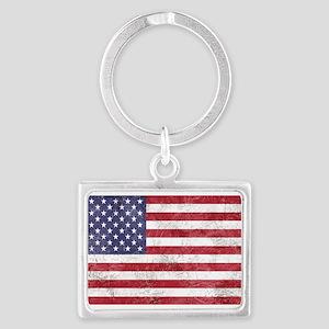 Vintage American flag Keychains