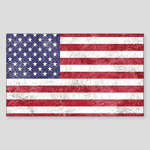 Vintage American flag Sticker