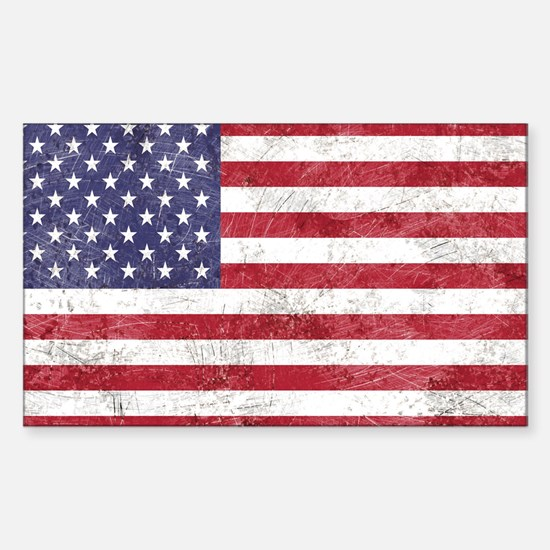 Vintage American flag Decal