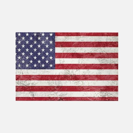 Vintage American flag Magnets