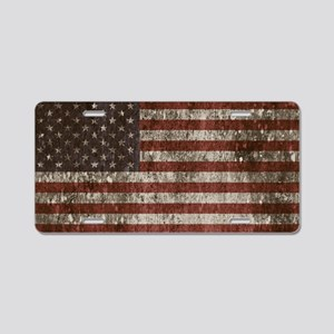 Vintage American flag licence plate cove Aluminum