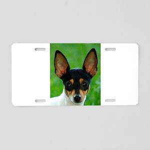 toy fox terrier Aluminum License Plate