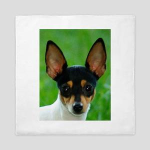 toy fox terrier Queen Duvet
