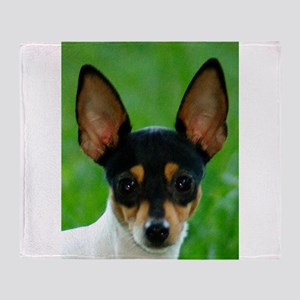 toy fox terrier Throw Blanket