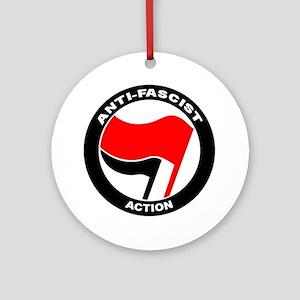 Anti-Fascist Action Round Ornament