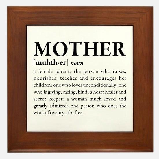 Mother Framed Tile