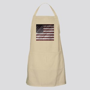 Wooden boards American flag Apron