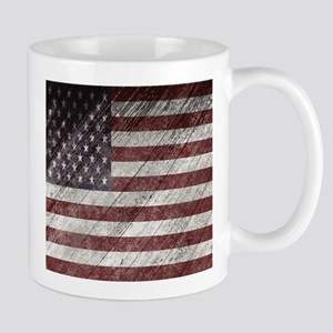 Wooden boards American flag Mugs