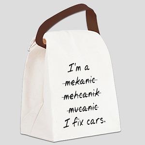 I Fix Cars Canvas Lunch Bag