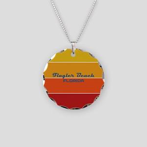 Florida - Flagler Beach Necklace Circle Charm