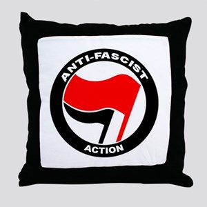 Anti-Fascist Action Throw Pillow