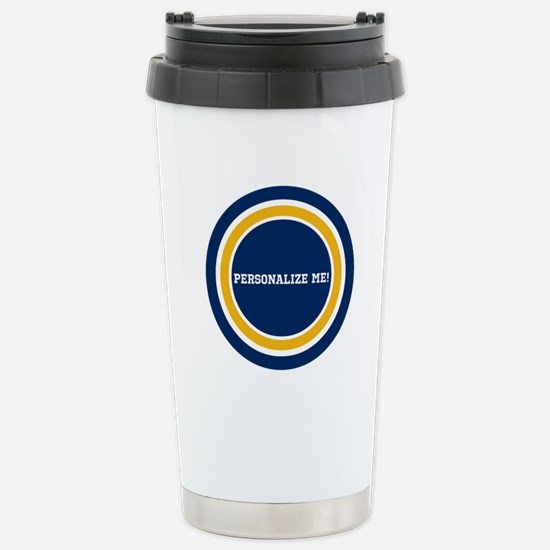 Blue and Gold Team Colo Stainless Steel Travel Mug