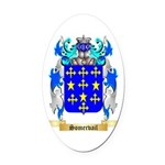Somervail Oval Car Magnet