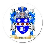 Somers Round Car Magnet