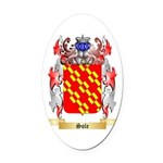 Sole Oval Car Magnet