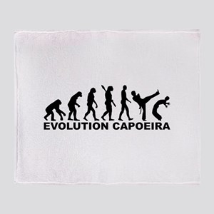 Evolution Capoeira Throw Blanket