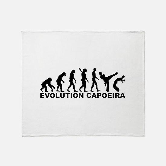Evolution Capoeira Throw Blanket
