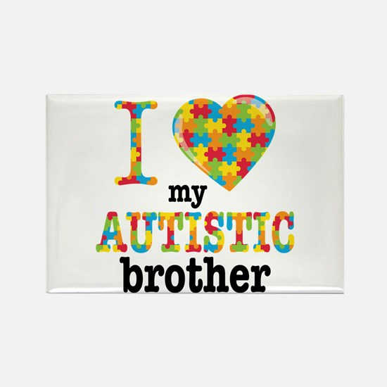 Autistic Brother Rectangle Magnet