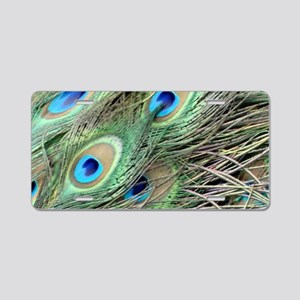 Powerful Peacock Eyes Aluminum License Plate