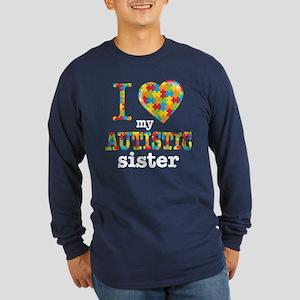 Autistic Sister Long Sleeve Dark T-Shirt