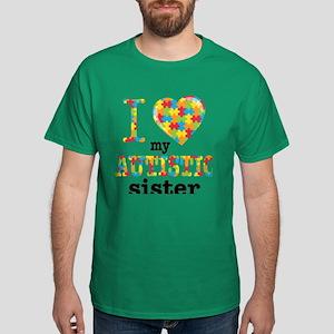 Autistic Sister Dark T-Shirt