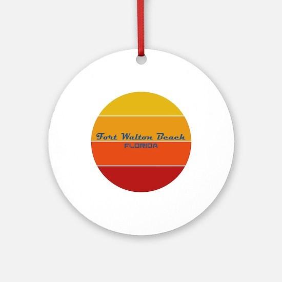 Florida - Fort Walton Beach Round Ornament