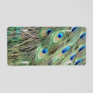 Flowing Peacock Eyes Aluminum License Plate