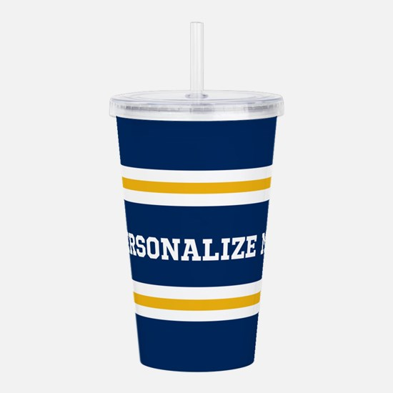 Blue and Gold Team Col Acrylic Double-wall Tumbler