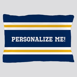 Blue and Gold Team Colors to Customize Pillow Case