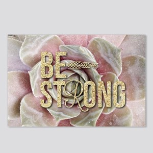strong typography pink su Postcards (Package of 8)