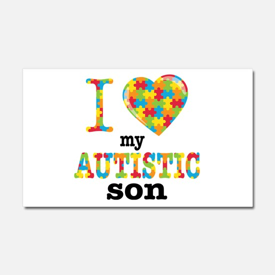 Autistic Son Car Magnet 20 x 12
