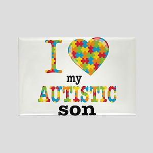 Autistic Son Rectangle Magnet