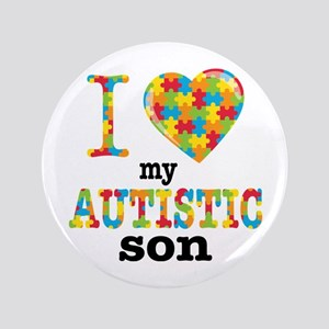 Autistic Son Button