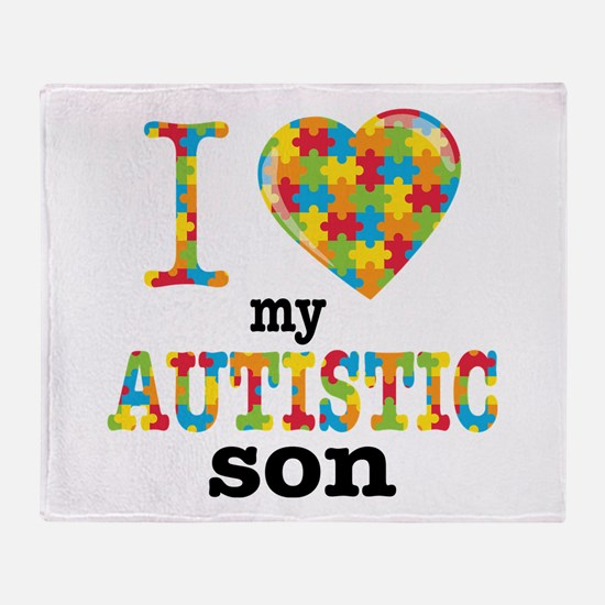 Autistic Son Throw Blanket