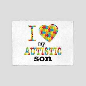 Autistic Son 5'x7'Area Rug