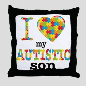 Autistic Son Throw Pillow
