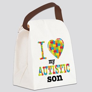 Autistic Son Canvas Lunch Bag