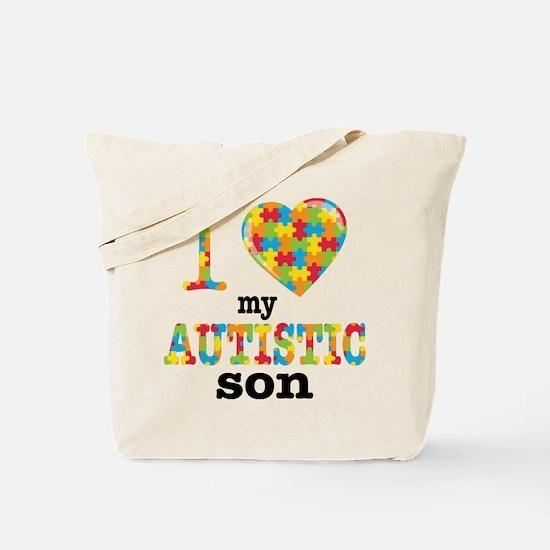 Autistic Son Tote Bag
