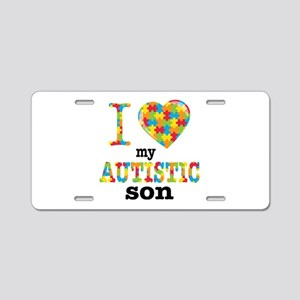 Autistic Son Aluminum License Plate
