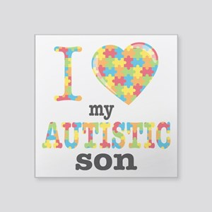 "Autistic Son Square Sticker 3"" x 3"""