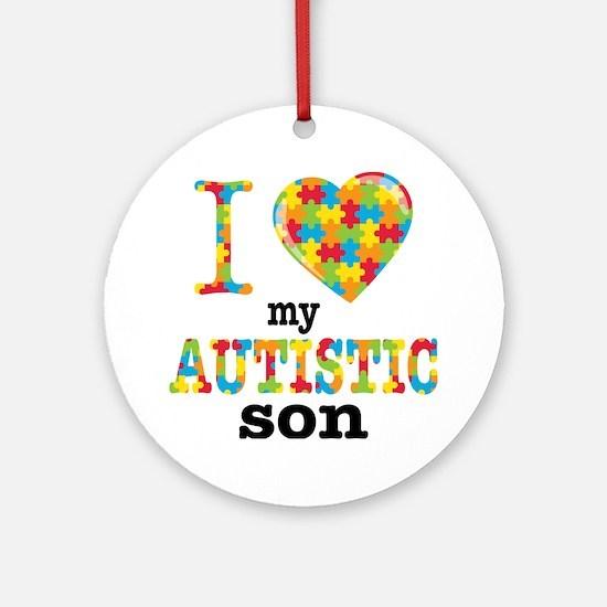 Autistic Son Round Ornament