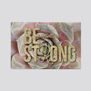strong typography pink succulents Magnets