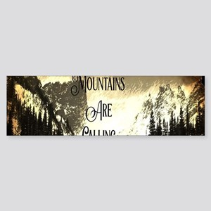 vintage mountains are calling Bumper Sticker